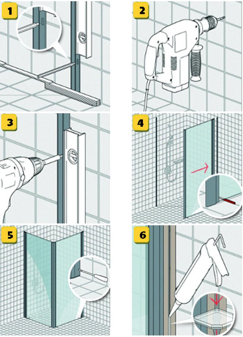 Duschkabine Einbauen heimwerkertipps bodenebene dusche harbecke webseite
