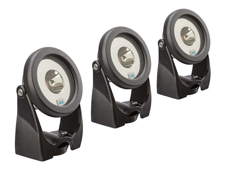 Oase Unterwasserscheinwerfer Power LED 19 Watt LunAqua Set 3 kompl. mit Trafo